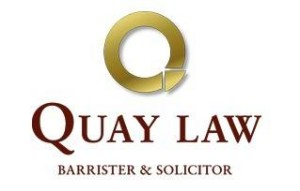 Quay Law White Logo Auckland lawyers and Auckland law firm